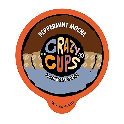 Crazy Cups Coffee, Peppermint, Chocolate Mocha, Single Serve cups for the K Cup Keurig, 22 Count (Mocha Mint)