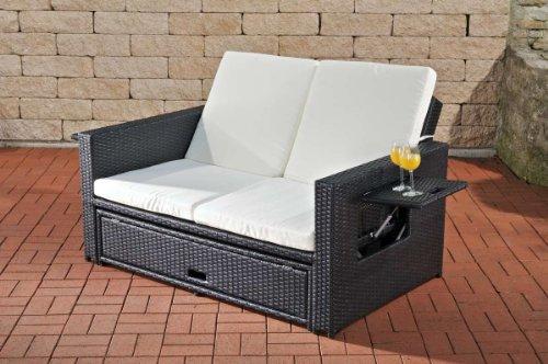 Lounge sofa rattan  Amazon.de: CLP Poly-Rattan 2er Lounge-Sofa ANCONA, ALU-Gestell ...