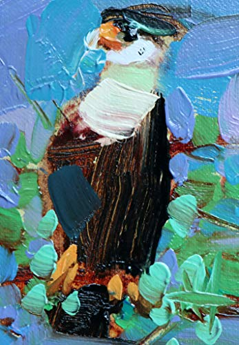 Crested Caracara Original Oil Painting ACEO Angela Moulton ()