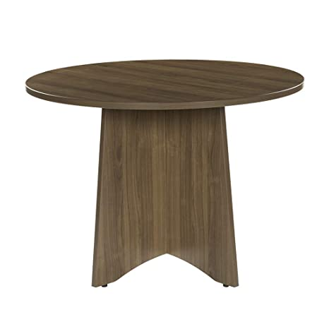 Super Sunon 41 3 Inch Dia Round Conference Table With X Shaped Wood Panel Small Dining Table Walnut Interior Design Ideas Truasarkarijobsexamcom