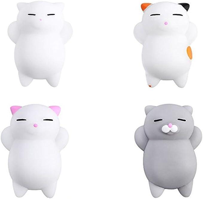 Yakiki Cat Squishy Gato Juguetes Mini Mochi Squeeze Kitty Toy Buns Stress Relief Toy Tiernos squishies de Animales Que recuperan su Forma Lentamente: Amazon.es: Juguetes y juegos