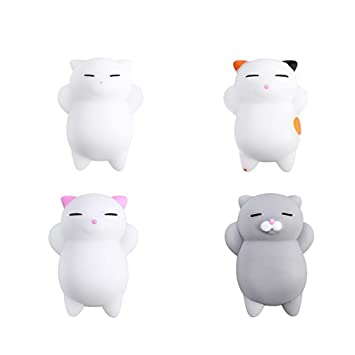 Yakiki Cat Squishy Gato Juguetes Mini Mochi Squeeze Kitty Toy Buns Stress Relief Toy Tiernos squishies de Animales Que recuperan su Forma Lentamente: ...