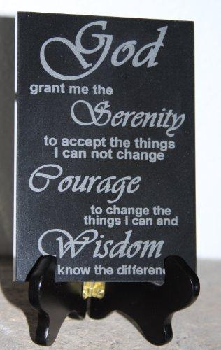 Serenity Prayer Black Marble Laser Engraved Plaque 5