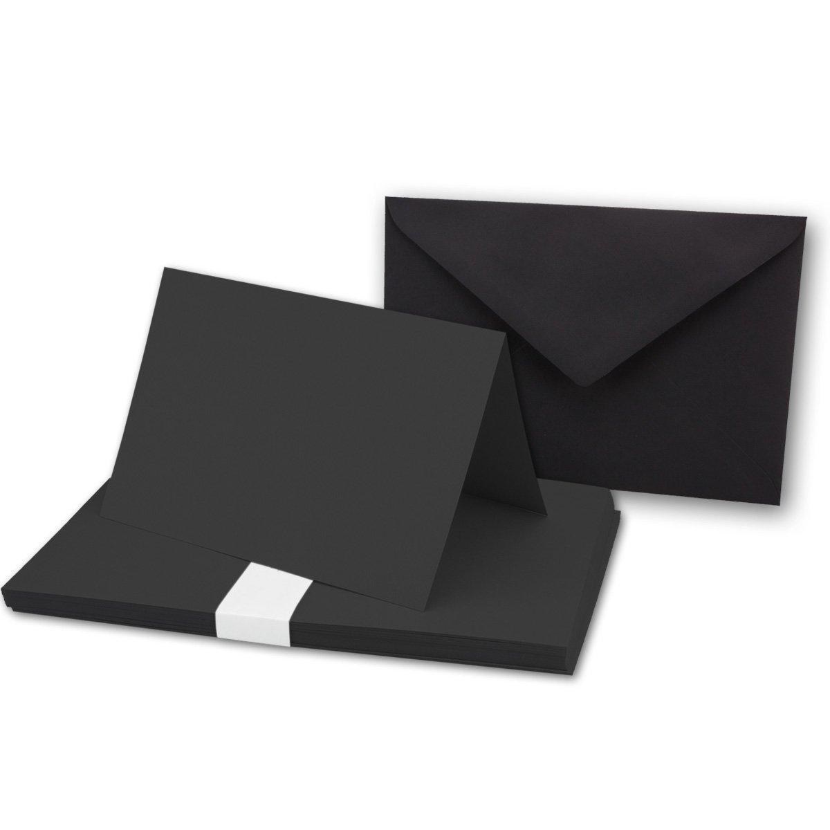 75 Sets - Faltkarten Hellgrau - Din A5  Umschläge Din C5 - Premium Qualität - Sehr formstabil - Qualitätsmarke  NEUSER FarbenFroh B072F81BBX | Verrückte Preis