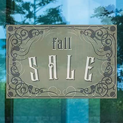 5-Pack Fall Sale Victorian Gothic Window Cling CGSignLab 27x18