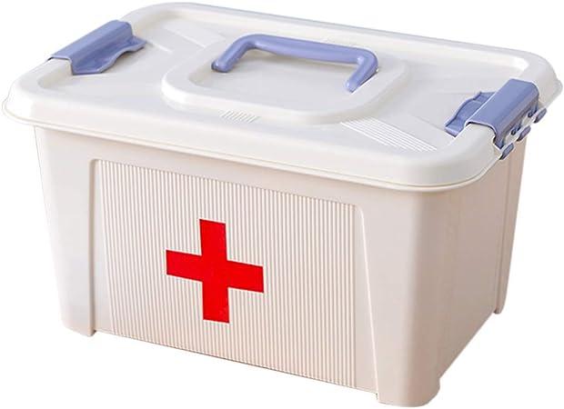 APAN Caja de medicinas Grande,Caja de Medicina portátil para el hogar,Caja de Primeros Auxilios para Viajes/Camping/Lugar de trabajo-38x30x23.5cm: Amazon.es: Hogar