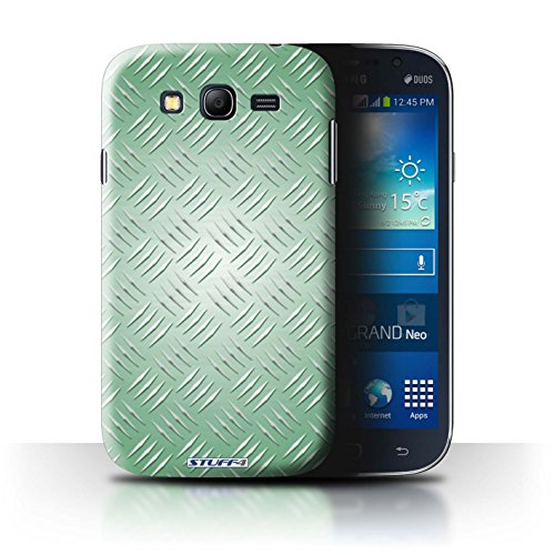 Coque de Stuff4 / Coque pour Samsung Galaxy Grand/i9082 / Vert Design / Motif en Métal en Relief Collection