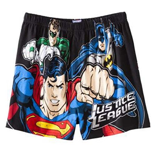 DC Comics Men Justice League Boxers Superman Batman Green Lantern Boxer Shorts S