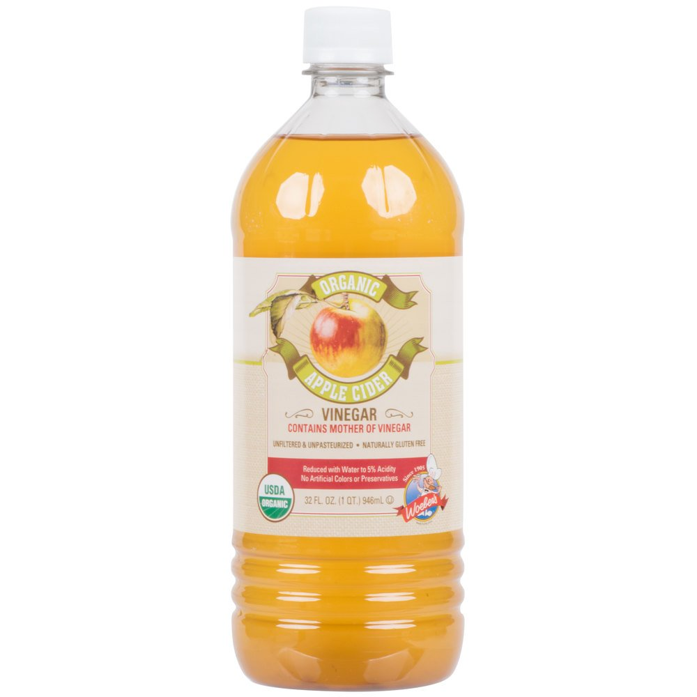 TableTop King 32 oz. Organic Apple Cider Vinegar - 12/Case
