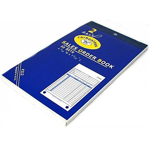 """Sales Order Receipt Forms Carbonless Record Sheet Book 4 3/16"""" x 7 3/16"""""""