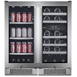 Avallon AWBV2386 23 Bottle + 86 Can Side-by-Side Wine & Beverage Center