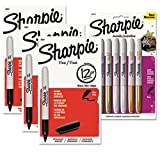 Sharpie Assorted Fine Point Markers Black Metallic 42 Count