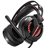 MCCW Headset Computer Game Headset subwoofer Wire Control with Wheat Light Headphones wear Comfortable Noise Reduction Technology Perfect Sound Quality
