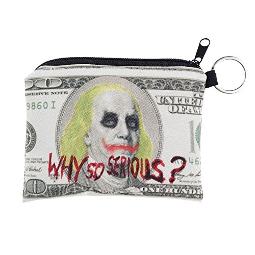 Carteras monedero de Kukubird Joker dólar diseño impresión Plaza