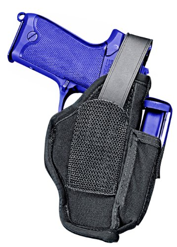 Uncle Mike's Kodra Nylon Ambidextrous Sidekick Hip Holster (Size 36, Black)