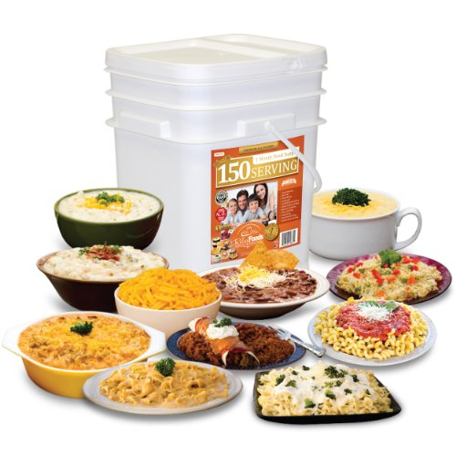 Relief Foods Premium 1 Month Emergency Food Supply All Entree Meals Bucket (150-Serving)