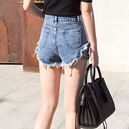 Cowboy Ripped Haute Femme Irrgulire Bleu Glands Shorts Denim Gris Chaude Hotpants Taille Jeans Xinwcanga Pantalons xqBzdTq