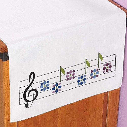 Herrschners® Musical Garden Dresser Scarf Stamped Embroidery