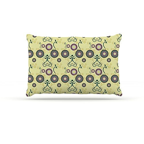 Kess InHouse Mydeas Spring Florals  Fleece Dog Bed, 50 by 60 , Yellow