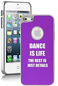 Apple iPhone 5c Aluminum Plated Chrome Hard Back Case Cover Dance Is Life (Purple)