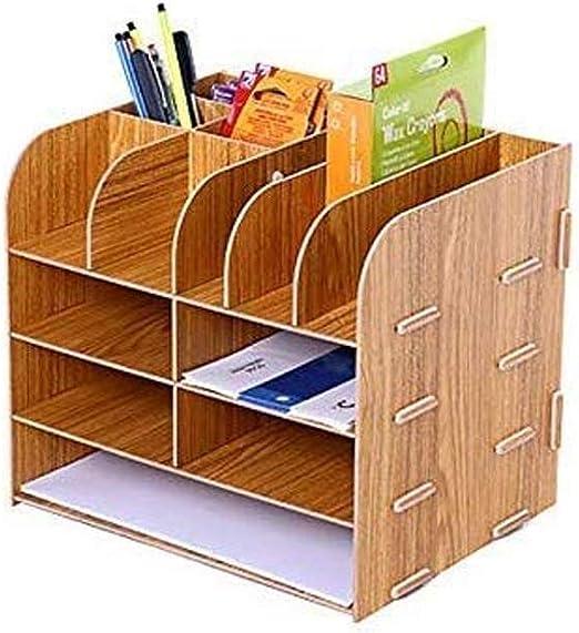 LULUDP Caja de almacenamiento del enrutador Soporte de libro ...