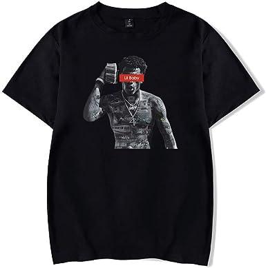 Camiseta Estilo Hip-Hop Rapper Lil Baby para Hombre Camiseta de Manga Corta y Cuello Redondo: Amazon.es: Ropa y accesorios