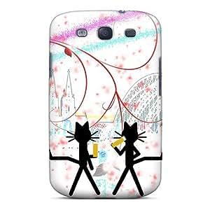 Premium Durable Katze Kittycat Nach Dem Sport Fashion Tpu Galaxy S3 Protective Case Cover by icecream design