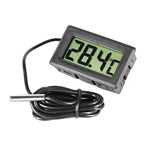 ACE Digital LCD Thermometer for Fridges Freezers Coolers Chillers Mini 1M Probe Black