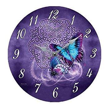 Celtic Zodiac Butterfly Metamorphosis Wall Clock By Brigi...