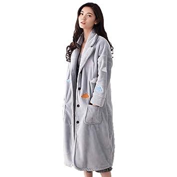 Pijamas De Mujer Albornoz Toalla Falda Batas Grueso Caliente Coral Fleece Franela Sexy Home Service Suit Cardigan (Tamaño : Metro): Amazon.es: Hogar