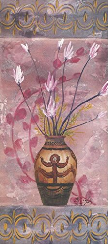 Oil Painting 'Pot With Pink Flowers', 8 x 18 inch / 20 x 46 cm , on High Definition HD canvas prints is for Gifts And Bar, Home Theater And Living Room Decoration, giclee printing
