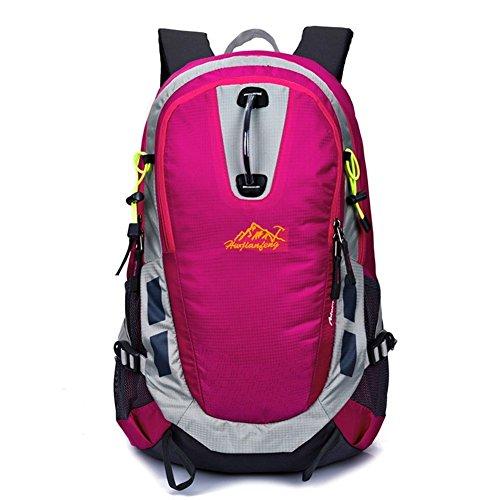 Sincere® Verpackung / Rucksäcke / Mobil / Ultraleichtreiten / Bergschulterbeutel / Fahrrad-Reisetasche / Outdoor-Sporttasche-rose Red 28L