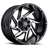 Vision 422 Prowler 20x12 6x139.7 -51mm Black/Machined Wheel Rim