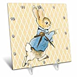 3dRose 3D Rose Peter Rabbit Vintage Art- Animals - Desk Clock, 6 by 6-inch (dc_79399_1)