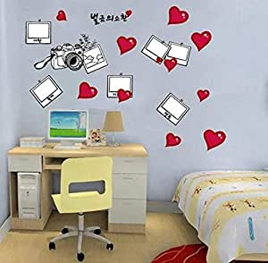 Creative Photo Wall Camera Removable Wall Stickers Bedroom office Home Decor Photo Wall Photo Frame Wallpaper-ek