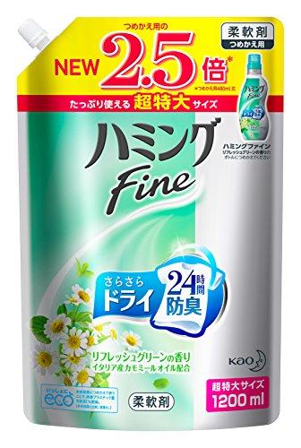 【대용량】허밍 파인 섬유유연제 리프레시 그린 의 향기 리필용 1200ml(다른옵션 선택시 무게배송료 추가됩니다.)