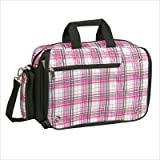 OGIO Street City Corp Messenger Bag (Pink Plaid)