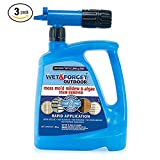 Wet and Forget 805048 Moss, Mold, Mildew and Algae Stain Remover Hose End, 48 oz,3-Pack