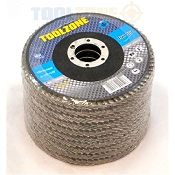 12 pack AB010 Trade Quality 115mm 4 1//2 inch 40 Grit Sanding Flap Disc