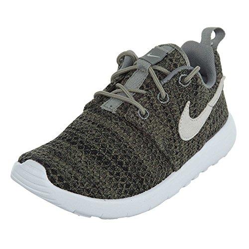 Nike Kids Roshe One Running Shoe Dark Stucco/Light Bone-black-white