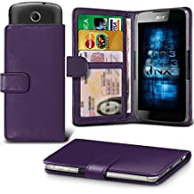 Acer Liquid Z410 Adjustable Spring Wallet ID Card Holder Case Cover Multiple Colours Available ONX3