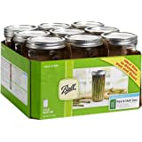 Ball 24-Ounce Wide Mouth Jars with Lids and Bands 9-Count