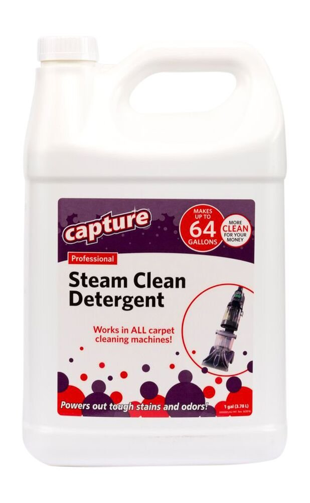 Capture Professional Steam Cleaner Carpet Detergent for All Machines Resolve Stain Smells Odor -1 Gallon Concentrate - Make 64 Gallons