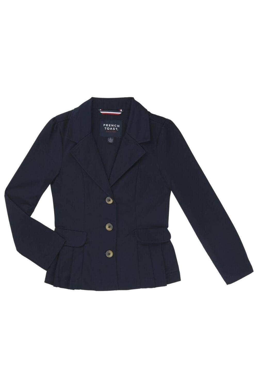 French Toast School Uniform Girls Twill Blazer, Navy, 7
