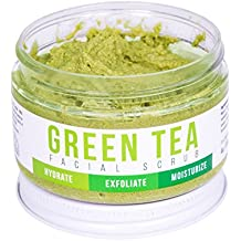 GREEN TEA DETOX FACE SCRUB By Teami   100% Organic Facial Scrubs   Exfoliate, Hydrate, & Moisturize All Skin Types   with Lemongrass for Blemishes & Blackheads, and the Best Exfoliating Sugar.