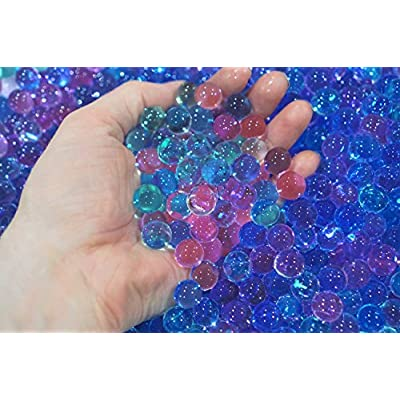 SENSORY4U Dew Drops Ocean Water Beads Mermaid Lagoon Tactile Sensory Toys Bin Kit - Mermaids Seahorse and Dolphin Toy Animals Included: Toys & Games