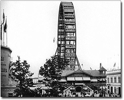 (1893 Chicago World's Fair Great Ferris Wheel from West 24x30 Silver Halide Photo Print)