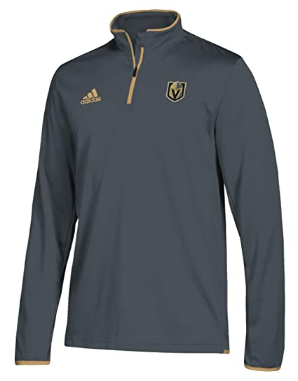 193d065baed adidas Vegas Golden Knights NHL Authentic 1/4 Zip Pullover (Small)