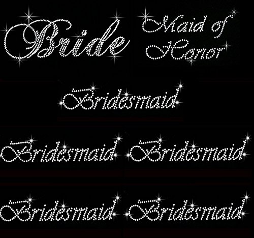 Rhinestone Wedding Transfer Bride Bridesmaid product image