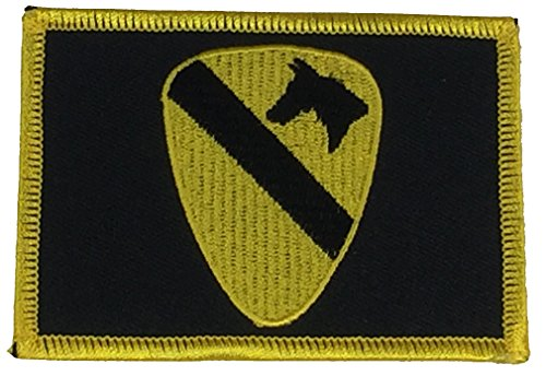 US ARMY 1ST CAVALRY CAV FLAG PATCH - COLOR - Veteran Owned -